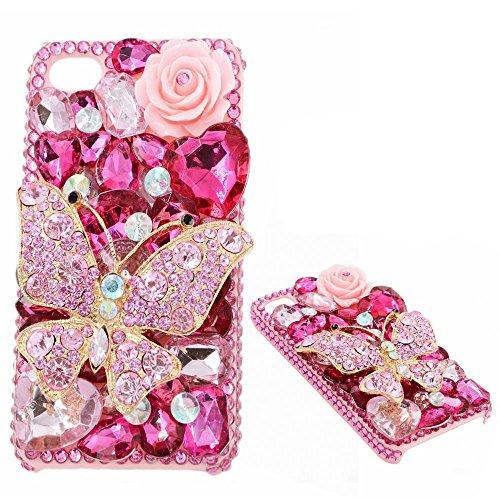 spritech (TM) 3D Bling Strass Design Hard Cover Case für iPhone 5C, Style-14, iPhone 5C