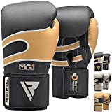 RDX Boxhandschuhe Leder Muay Thai Boxsack Kickboxen Sparring Boxen Training Sandsack Boxing Gloves
