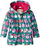 Hatley Girls Orchard Apples Raincoat, Green, 2 Years