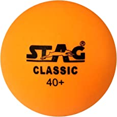 Stag Classic-O Plastic Table Tennis Ball, 40mm Pack of 6 (Orange)