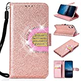 MeganStore Coque Paillettes iPhone XR, Femme Filles Brillant Bling Scintillant Strass...