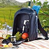 Xcase Picknickrucksack: Thermo-Picknick-Rucksack mit Kühlfach, bestückt für 2 Personen (Picknickrucksack mit Kühlfach) -
