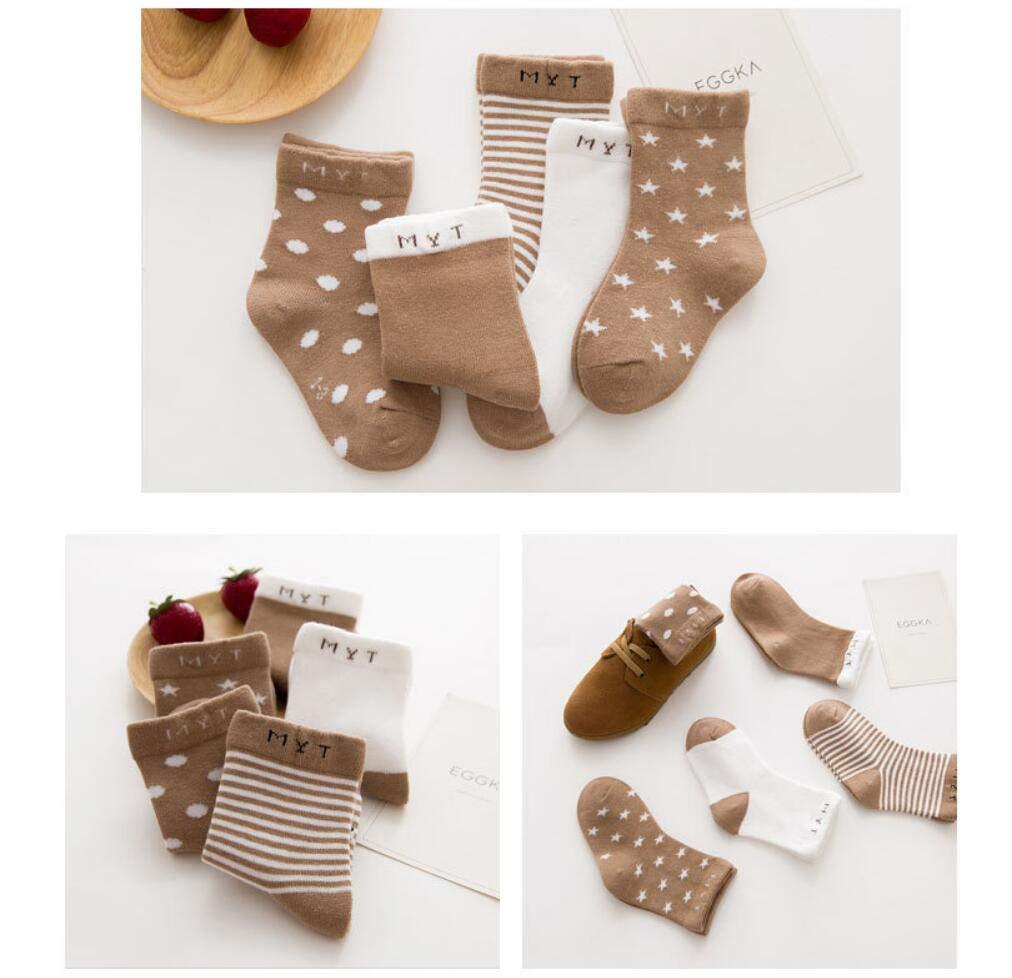 DEBAIJIA Calcetines de Algodón para Bebé 0-7 Años Suaves Cómodos Niños Niñas Calcetines Respirable Primavera Verano… 4