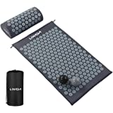 Acupressure Mat and Pillow Set with 2pcs Spiky Massage Balls for Back/Neck/Feet Pain Relief and Muscle Relaxation with Carry