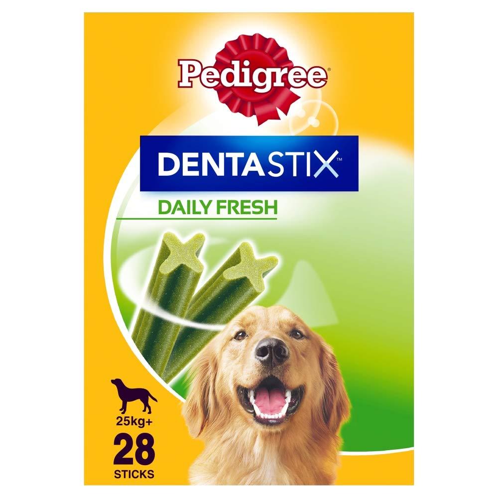 Pedigree Dentastix Fresh, Daily Dental Chews for Large Dogs 25 kg+, 28 Sticks