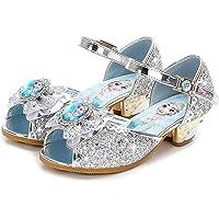 AIYIMEI Scarpe con Tacco Ragazza Ballerine Bambina Cerimonia Festa Lustrino Nozze Scarpe da Principessa Eleganti Danza…