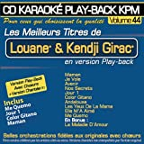 CD Karaoké Play-Back KPM Vol.44 ''Louane & Kendji Girac''