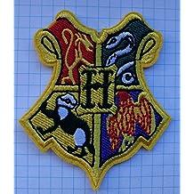 Bügelbild / Patch, Motiv Harry Potter Hogwarts-Schule Emblem, gestickt, zum Aufbügeln