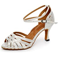MINITOO QJ6221 Chaussures de danse latine en satin pour femme