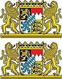 Michael & Rene Pflüger Barmstedt 2 x Mini Aufkleber Bayern Löwenwappen Sticker Wappen Autoaufkleber