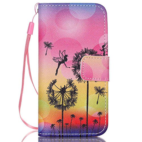 Nutbro iPhone 5C Case, iPhone 5C Wallet Case, 5C Case, PU Leather Wallet [Stand Feature] with Built-in Credit Card Slots Wallet Case for iPhone 5C 19