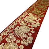 Cinta bordada artesanía decorativa de suministro 7,6 cm de ancho franja roja por el astillero
