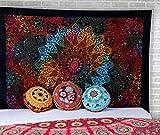 Indienne Boho Tapisserie Murale Psychedelic Star Mandala Plage Tenture Hippie bohémien Tie Dye Tapestry par Rajrang