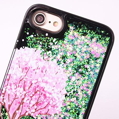 Custodia iPhone 7 Plus, Aohro Ultra Sottile Morbido TPU Bumper Gel e Bling Glitter Strass Interno Protettiva Custodia Brillantini Resistente Back Case Caso per iPhone 7 Plus 5.5pollice-Blu Casa sullalbero