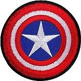 Capitán América escudo bordado parche de hierro/sew en T Shirt bolsa Comic Badge