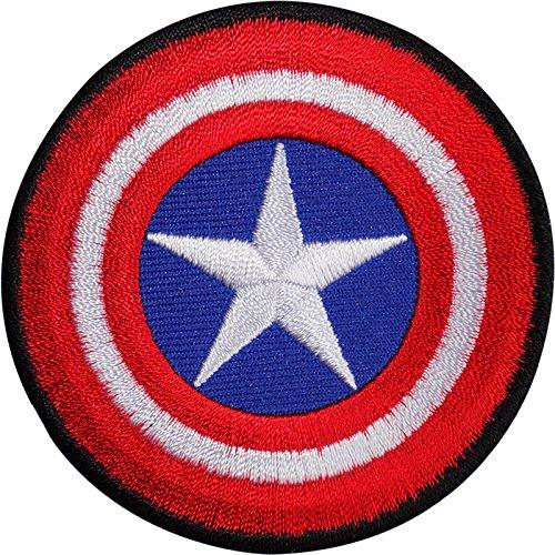 Captain America Kostüm Comics - Captain America Shield bestickt Eisen/Nähen auf Patch T-Shirt Tasche Comic Badge