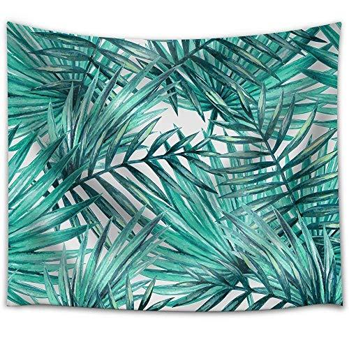 Pareo estampado con hojas tropicales en tejido ligero de poliéster ú