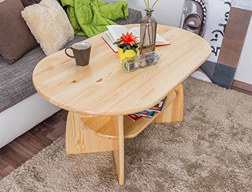 Couchtisch Kiefer Massivholz Farbe: Natur 60x115x70 cm