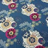 Stoff Baumwolle Ornament Mandala blau mint fuchsia