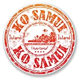2x 10cm KO Samui Thaïlande Sticker voiture vélo pour ordinateur portable en voyage bagages # 6513 - 10cm x 10cm