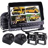 Zhiren - Sistema de cámara de seguridad para camión TFT, pantalla LCD de 9 pulgadas, con sistema de cámara de visión trasera para camión, furgoneta, caravana, remolques, autobús, RV