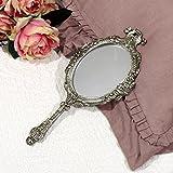 Specchio a Mano Vintage Shabby Chic Colore Argento Anticato Angelica Home & Country