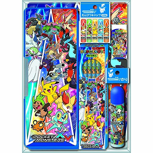 Pokemon-Pocket-Monsters-Estuche-de-lpices-y-conjunto-de-artculos-de-papelera-de-regalo