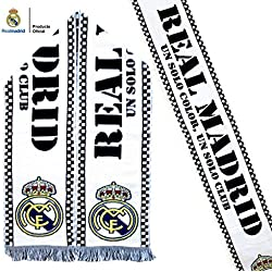 Bufanda Real Madrid Blanca – Un solo color, un solo club – Producto Oficial