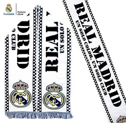 Bufanda Real Madrid Blanca – Un solo color, un solo club – Producto Oficial