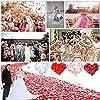 JZK 1000 x Seta petali di rosa finti rossi coriandoli biodegradabili stoffa decorazione tavolo per matrimonio addio al nubilato San Valentino nozze