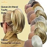 VANESSA GREY En toutes couleurs: cheveux courts postiche volumineuse extension pour Queue De Cheval, facile à utiliser sur clip de griffe