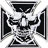 Cross Devil Master Skull Ghost Devil Outlaw MC Biker Punk Rock Heavy Metal Jacket T-shirt Patch Iron on Applique Embroidered Jacket T shirt Sign Costume