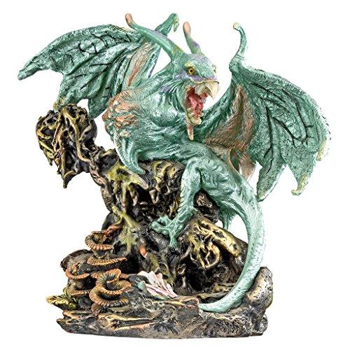 Interpet Design Toscano Scylla, le dragon Démon des profondeurs de la mer, pierre, argent