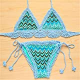 SPORTDER Frauen Handarbeit Knit Crochet Sexy Low Rise Halfter Bikini Strand Bademode