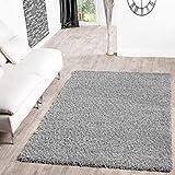 T&T Design Shaggy - Alfombra para salón, diferentes precios, varios colores, gris, 60 x 100 cm