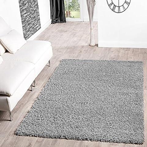 Shaggy–Alfombra para salón, diferentes precios, varios colores, gris, 70 x 140 cm