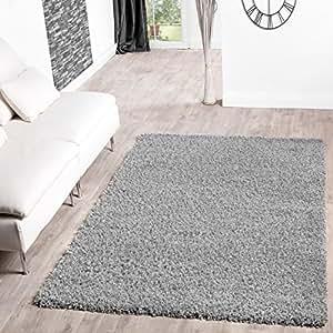tapis design shaggy de salon longs poils plusieurs coloris gris 60x100cm cuisine. Black Bedroom Furniture Sets. Home Design Ideas