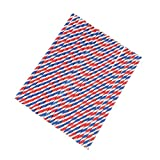 Anself 100pcs/set Paper Straws for Drinking, Three Color Stripe Pattern
