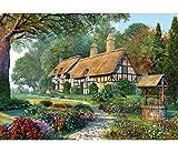 alles-meine.de GmbH Puzzle 1500 Teile -  Großes Cottage - Gartenhaus  - Zeichnung / Gemälde - NA..