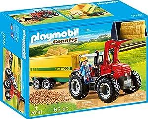 PLAYMOBIL Country Tractor con Remolque, A partir de 4 años (70131)