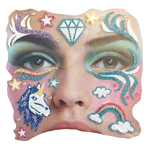 (Gesichts Tattoo Face Art Halloween Karneval Einhorn)