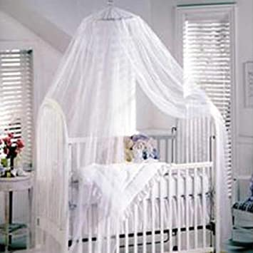 TININNA Baby Mosquito Net Nursery Toddler Bed Crib Canopy Netting Hanging Ring White Amazon.co.uk Baby & TININNA Baby Mosquito Net Nursery Toddler Bed Crib Canopy Netting ...