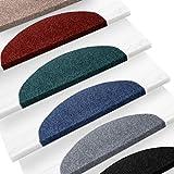 Set de 15 marchettes d'escalier etm® | surface confortable et antidérapante | taille 23x65cm | couleurs diverses - anthracite...