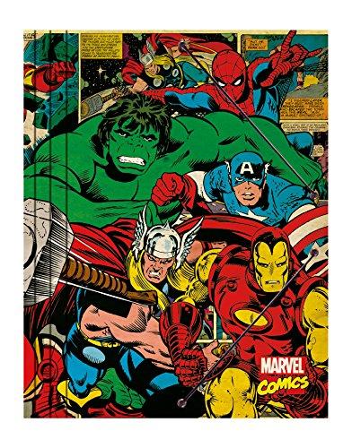 Grupo Erik Editores Premium Marvel Classeur à dossiers motif Marvel