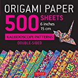 """Origami Paper - 500 Sheets Kaleidoscope Patterns- 6"""" (15 Cm): Tuttle Origami Paper: High-quality Origami Sheets Printed With 12 Different Designs: Instructions for 8 Projects Included"""