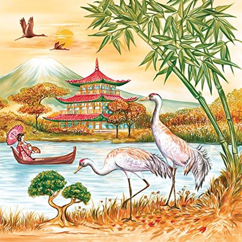 maki-servietten-slog-026101-asien-japan-bambus-bonsai-fluss