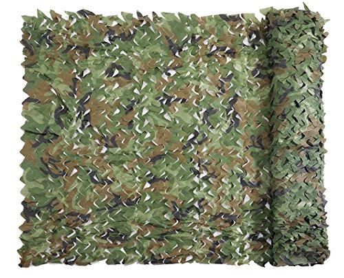 Red de Camuflaje Malla de Protección Redes 1.5 x 10M Bosque Militar Ejército Táctico sin Cuerda de Red para el Sol Sombra Decoración Caza Ciegos Disparos Woodland