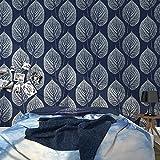 Moderne Simple skandinavischen schwarz und weiß Blätter 3D Tapete Außenhandel 3D grünen Nachttisch Sofa TV Hintergrund Tapete, B