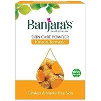 Banjara's Kasturi Turmeric 100% Natural Skin Care Herbal Powder 100 GMS , PACK of 1