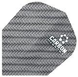 Harrows Carbon Kohlelaminat Dartpfeil Flights Set 100 Mikron Leistung 10 Stück Packung - Einheitsgröße, Grau